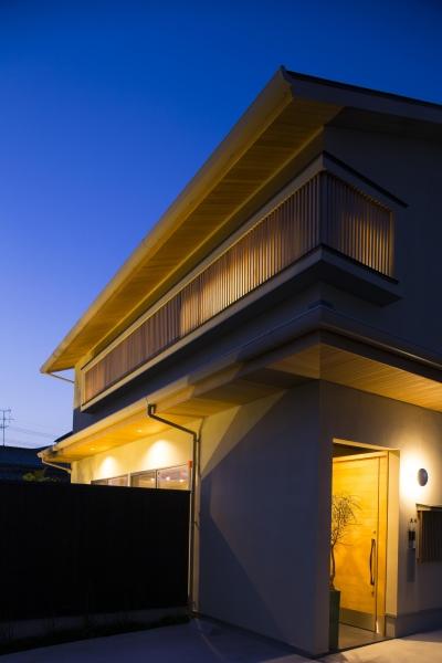 京都市T邸 (夜間外観)