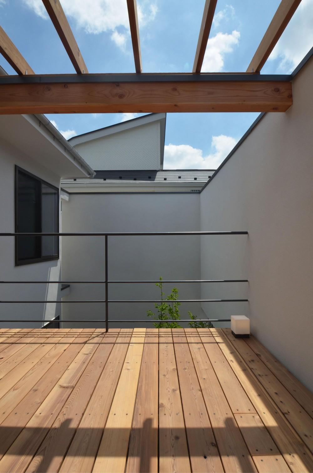 下連雀Y邸-L・D・K・中庭の関係性がつくりだす心地よい空間- (デッキテラス)