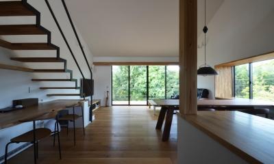 元石川町M邸-おおらかな片流れ屋根の下から望む眺めの家-