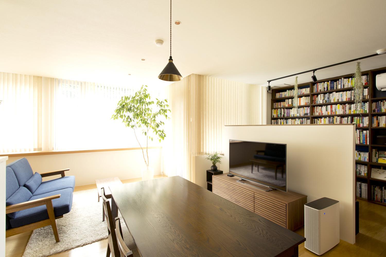リノベーション・リフォーム会社:スタイル工房「S邸・こだわりの書斎スペースがあるリビング」
