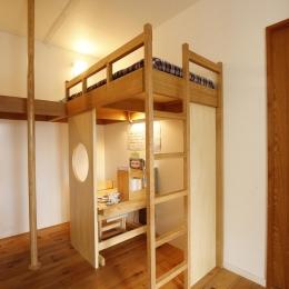 S邸・のぼり棒付きの楽しいロフトベッド! (個々のスペース(子供スペース))