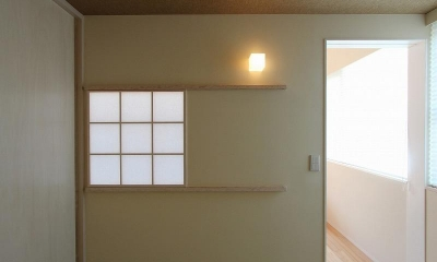 障子の室内窓|天蓋のある家