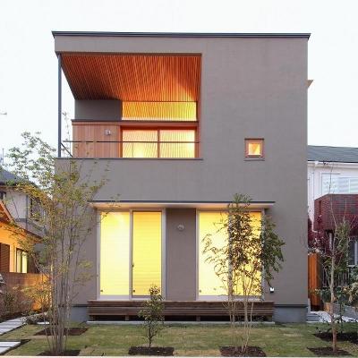 天蓋のある家 (植栽のあるコンパクトな外観)