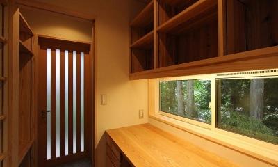 笹谷の家 (書斎スペース)