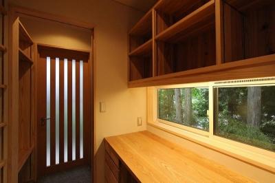 書斎スペース (笹谷の家)