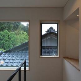 笹谷の家 (吹き抜けから望む)