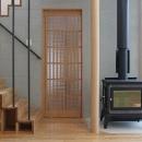 笹谷の家の写真 箱階段・薪ストーブ