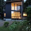 笹谷の家の写真 黒いガルバリウム鋼板の外観 3