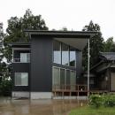 笹谷の家の写真 黒いガルバリウム鋼板の外観 1