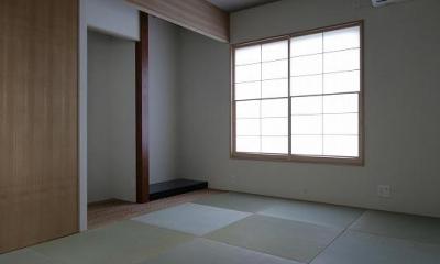 琉球畳を敷き詰めた和室|Yokono ARK