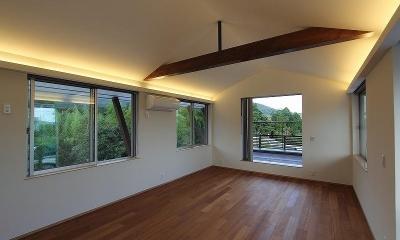 梁の見える洋室|Yokono ARK