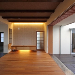 Yokono ARK (中庭と薪ストーブのあるLDK 1)