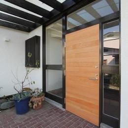 桜台の呼吸する家 (玄関)