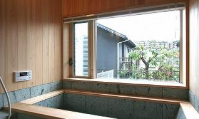 十和田石の浴槽|SKY FIELD HOUSE