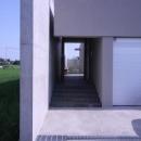 アプローチ階段のある入口