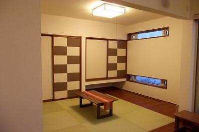 和モダンな和室 (HOKUEI HOUSE)