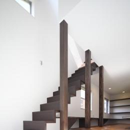 伊丹市 S邸-壁に埋め込んである階段