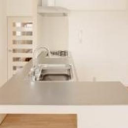 東京都大田の家 (ステンレスと無垢板のオープンキッチン)