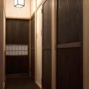 秋田杉の突板を使用した扉