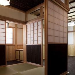 埼玉県日高の家・保田與重郎邸をイメージした和の魅力が溢れる家 (和室と板間の繋がり 2)