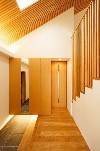 南大阪の家② (落ち着きのある玄関)