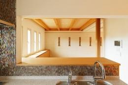 南大阪の家② (モザイクタイルのキッチン)