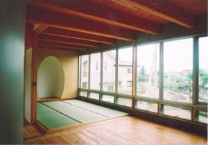 スクリーンガーデンの部屋 畳スペースのある空間
