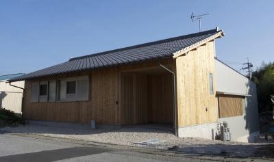 中庭のある家 (木造平屋住宅)