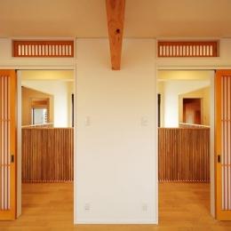IN・EX・PLUS (洋室から廊下を眺める)