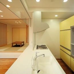 IN・EX・PLUS (アクセントカラーのキッチン)