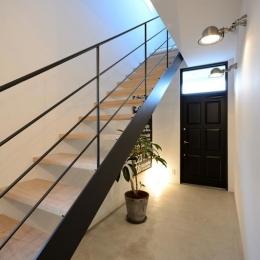 日南の家-モダンなオープン型階段