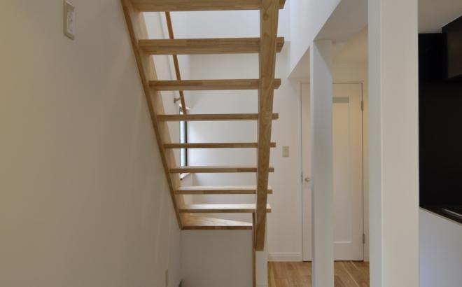 k houseの部屋 オープン型階段