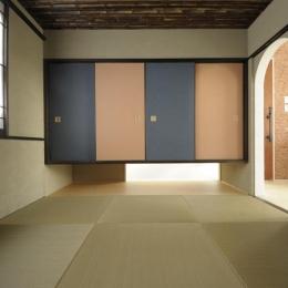 h-house (琉球畳を敷き詰めた和室)
