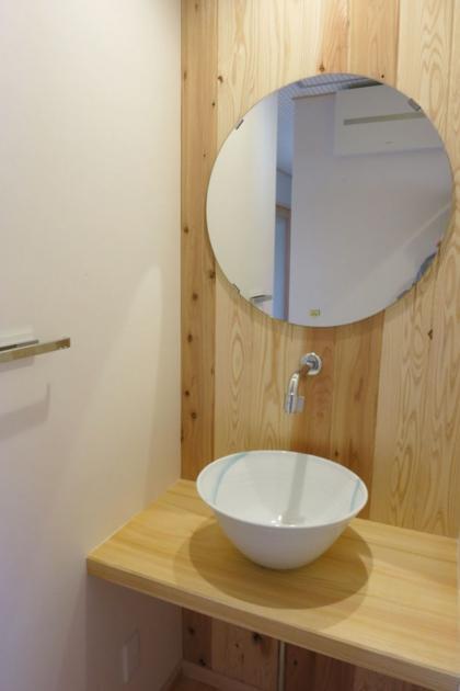 KT邸新築工事の写真 洗面コーナー