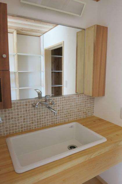 KT邸新築工事の写真 洗面化粧台