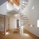 3階まで続く螺旋階段