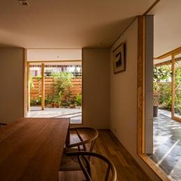 回廊の家 (どこにいても緑を感じられる空間)