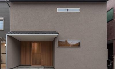 外観|東山の家2|伝統環境保存区域の狭小敷地住宅