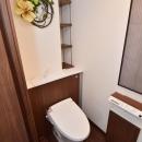 タンク薄型トイレで広々した空間
