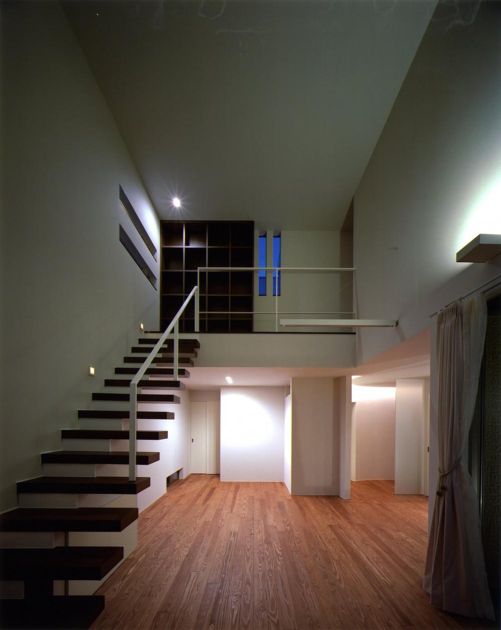 N2-house 「切抜かれた家」 (リビング)