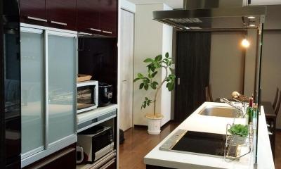 Modern Warm Style 都心スタイル (機能的なすっきりキッチン)