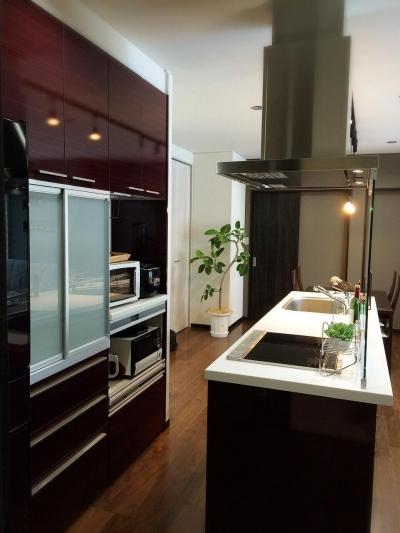 Modern Warm Style (機能的なすっきりキッチン)