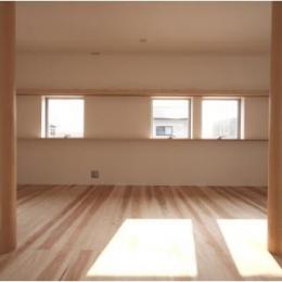 MUKURI house (2つの柱が連なる空間 1)