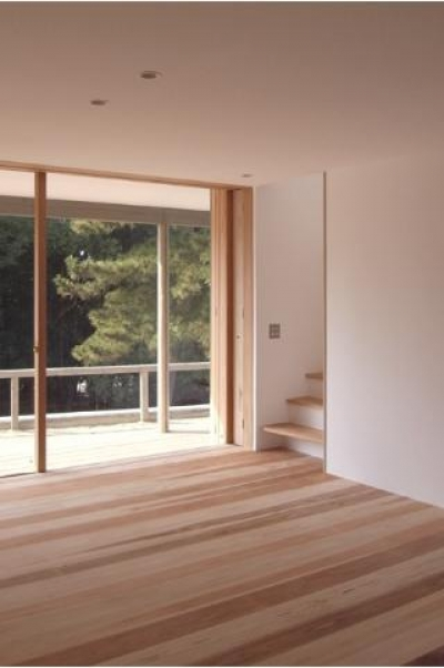 MUKURI house (テラスと繋がるリビング)