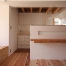 ニッチスペースのあるキッチンカウンター