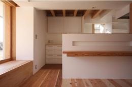 smoke hut (ニッチスペースのあるキッチンカウンター)
