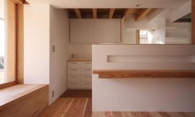 ニッチスペースのあるキッチンカウンター|smoke hut