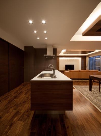 キッチン (K6-house リノベーション 「格子と石の家」)