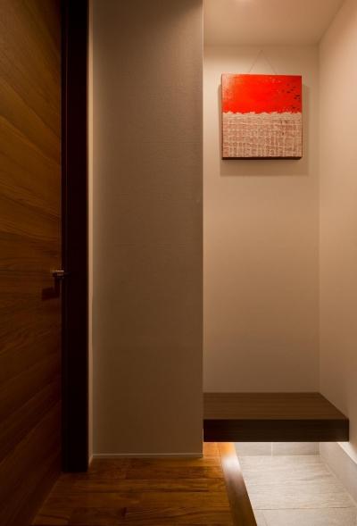 玄関 (M6-house 「幾何学の家」)