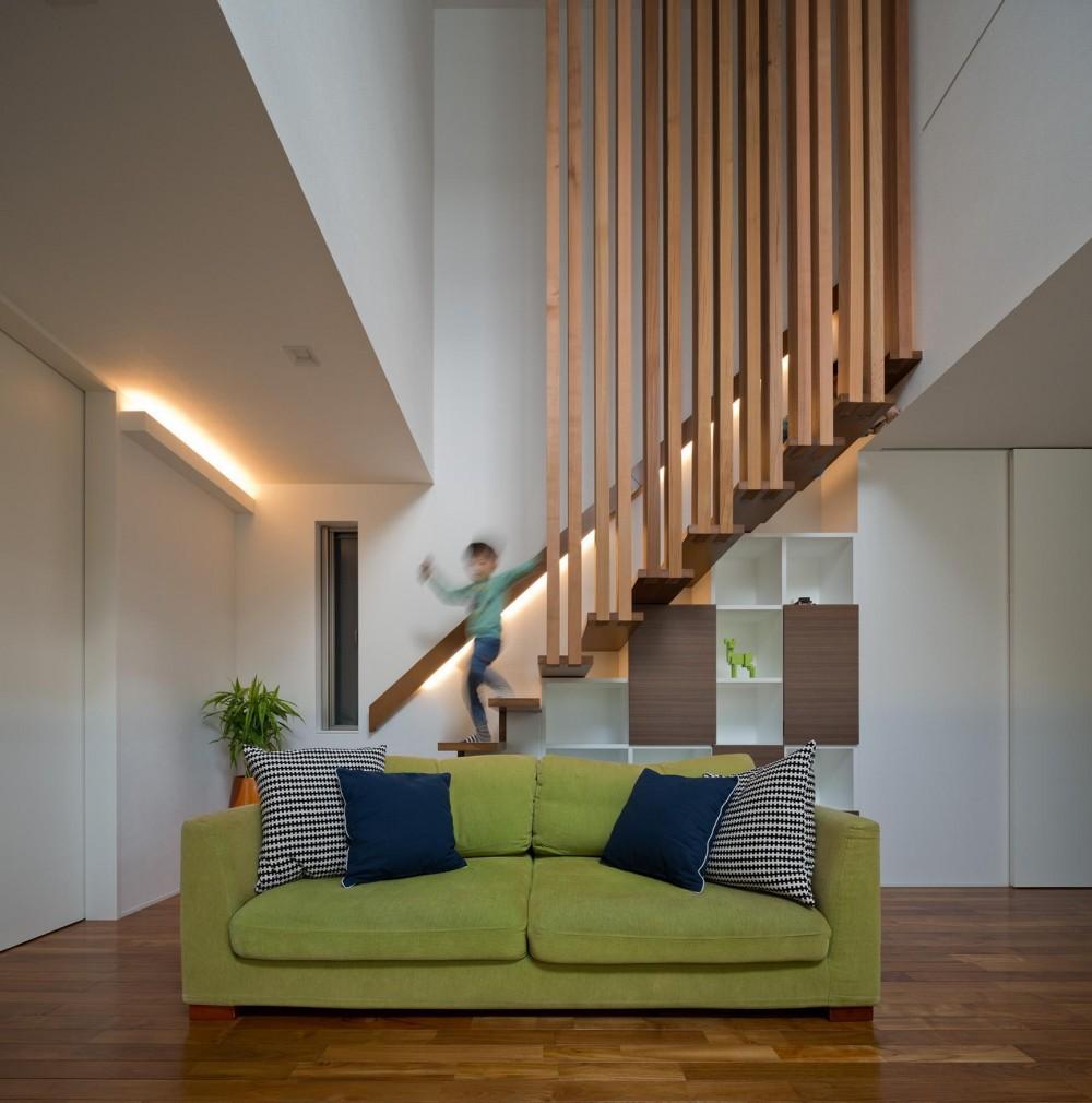 M6-house 「幾何学の家」 (リビング)